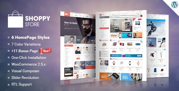 Free download ShoppyStore WooCommerce WordPress Theme V3 3 6